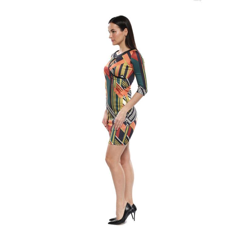 Színes, geometriai mintás ruha