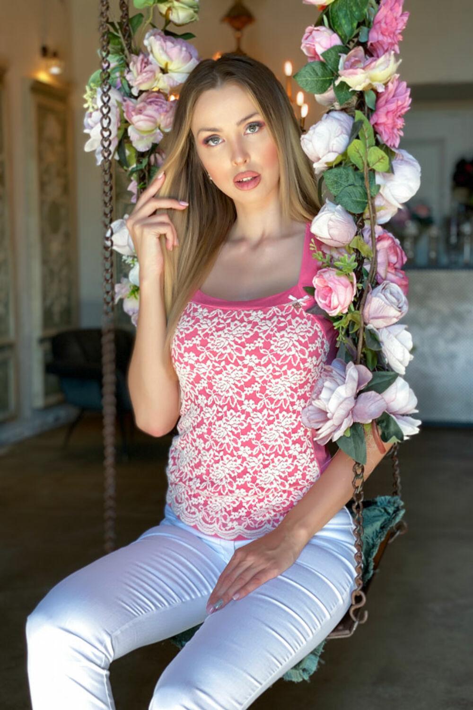 Gabi top - rózsaszín/fehér
