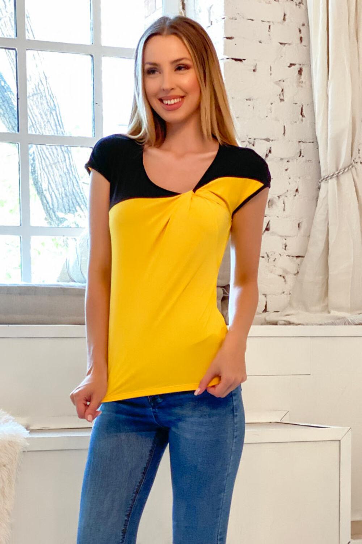 Edina póló - sárga/fekete